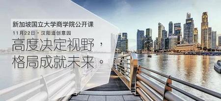 11月22日 新加坡国立大学商学院公开课走进湖北武汉