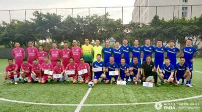 首届西南EMBA足球联赛热力开赛,川大EMBA2:0获得首胜