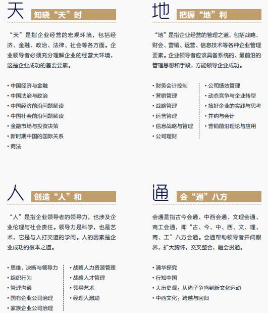 清华经管EMBA课程介绍