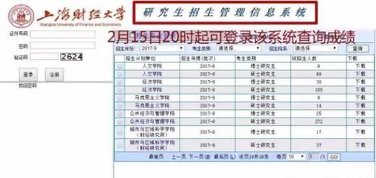 上海财经大学研究生招生信息管理系统