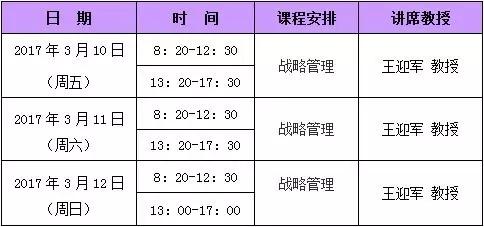天津财经大学EMBA3月份课程安排,天津财经大学EMBA,天津财大EMBA