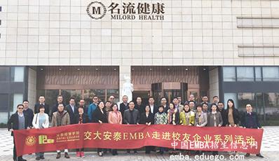 上海交通大学EMBA师生参访上海名流健康管理股份有限公司合影