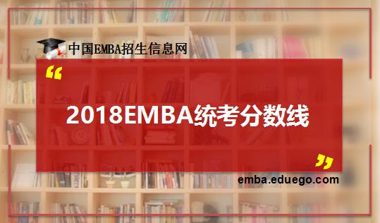 EMBA统考分数线
