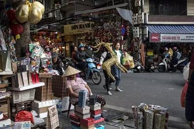 越南河内的购物街